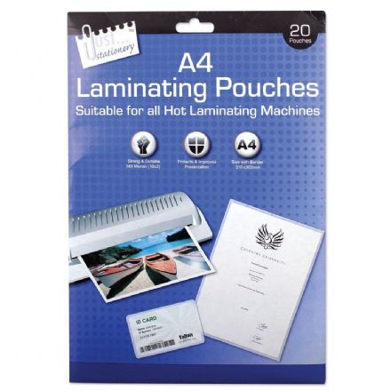 Tallon  A4 Laminating Pouches 140 micron (Pack quantity 20)